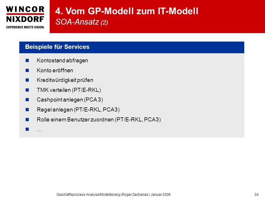 Geschäftsprozess-Analyse/Modellierung | Roger Zacharias | Januar 200634 4.
