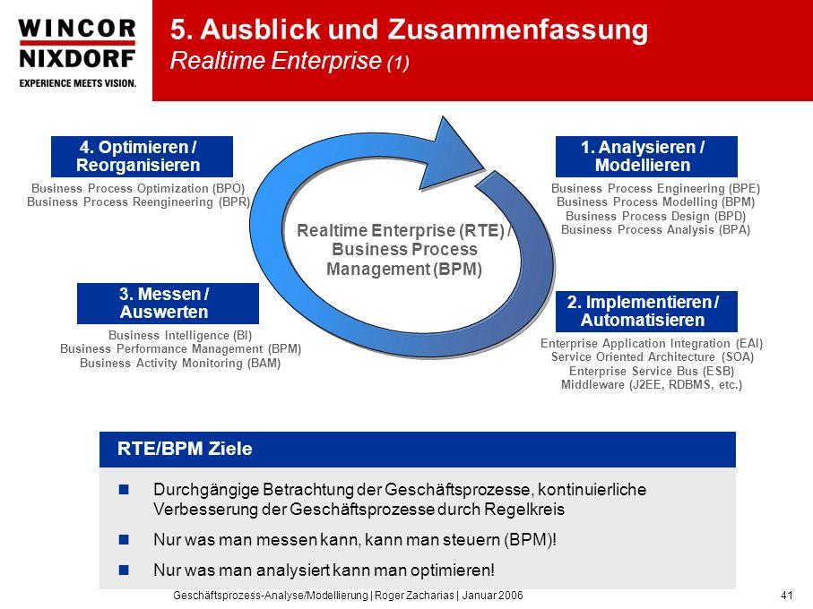Geschäftsprozess-Analyse/Modellierung | Roger Zacharias | Januar 200641 5.