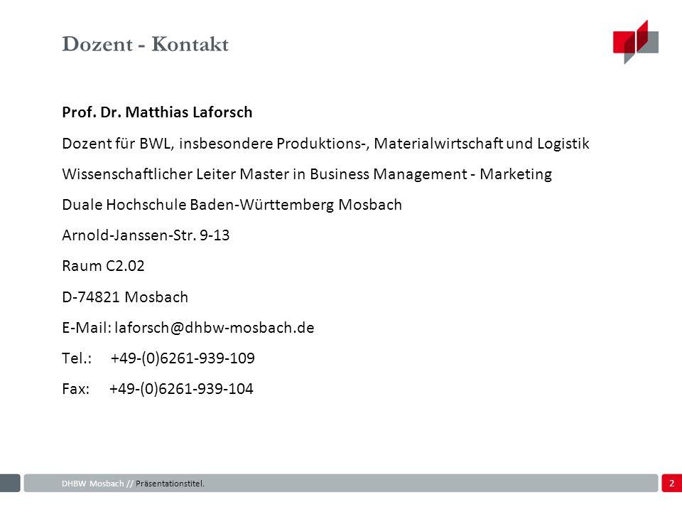 2 Dozent - Kontakt Prof.Dr.