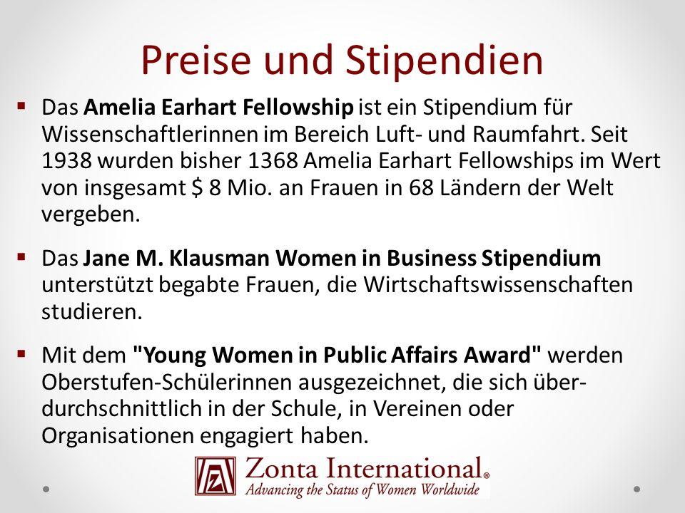 Das Amelia Earhart Fellowship ist ein Stipendium für Wissenschaftlerinnen im Bereich Luft- und Raumfahrt. Seit 1938 wurden bisher 1368 Amelia Earhart