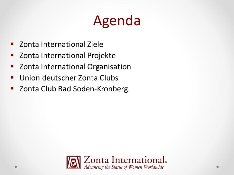 Zonta International Ziele Zonta International Projekte Zonta International Organisation Union deutscher Zonta Clubs Zonta Club Bad Soden-Kronberg Agen