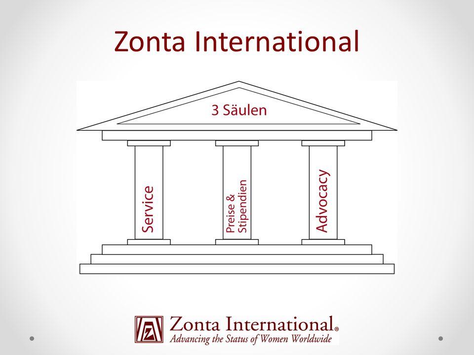 Zonta Geschichte 1919 - Gründung in Buffalo, New York 1921 - Erste Zonta Convention in Syracuse, NY 1930 - Zonta Confederation wurde Zonta International mit dem ersten europäischen Club in Wien 1928 - Zonta bezieht Hauptsitz in Chicago