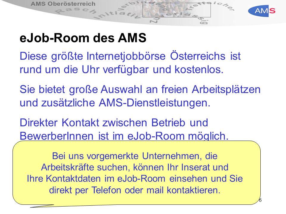 6 Diese größte Internetjobbörse Österreichs ist rund um die Uhr verfügbar und kostenlos.