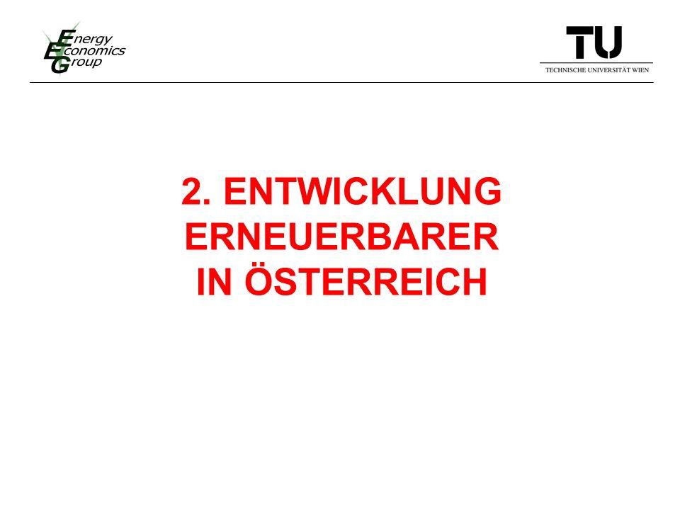 2. ENTWICKLUNG ERNEUERBARER IN ÖSTERREICH
