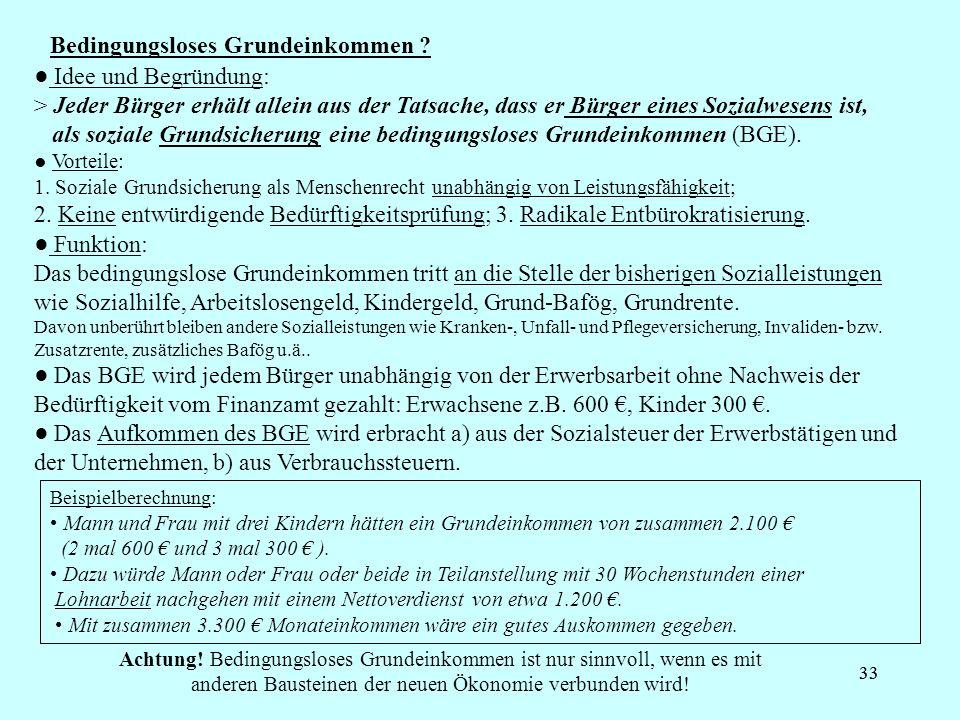 33 Bedingungsloses Grundeinkommen .