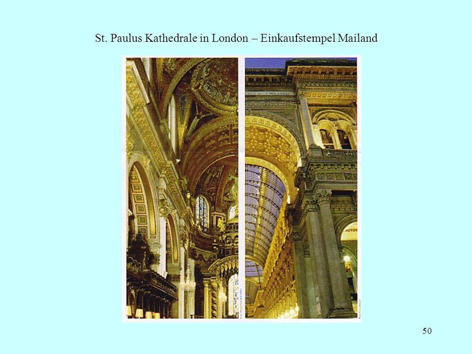 50 St. Paulus Kathedrale in London – Einkaufstempel Mailand