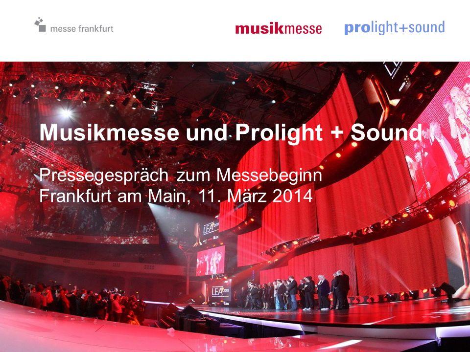 Musikmesse Prolight + Sound 2013 Pressegespräch zu Messebeginn 09.04.2013 12 Impulse für Wirtschaft & Gesellschaft Messeprogramm unterstützt Musik-Förderung und fachliche Weiterbildung