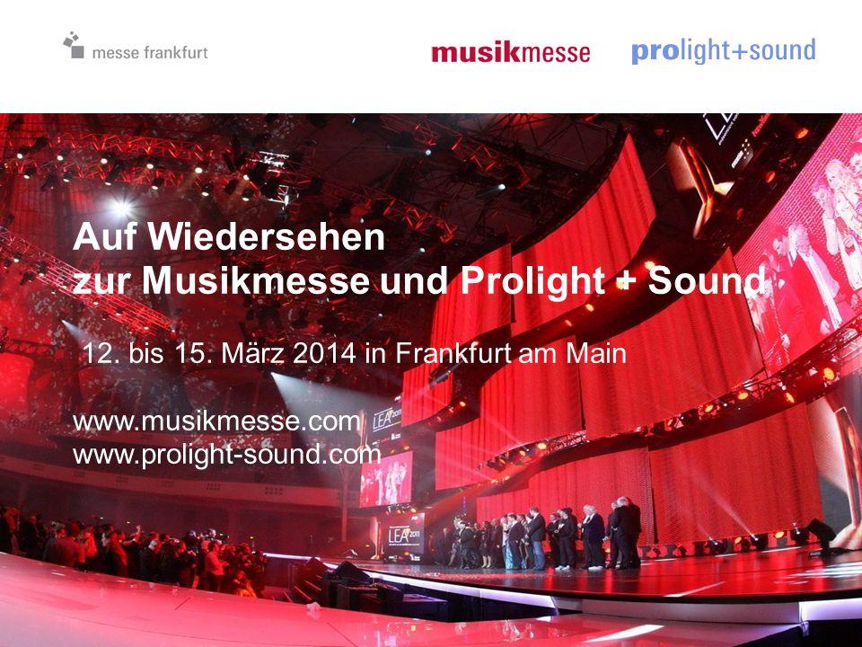 Auf Wiedersehen zur Musikmesse und Prolight + Sound 12.