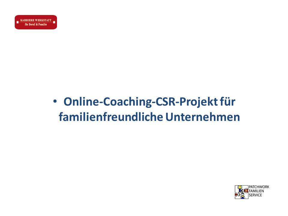 Online-Coaching-CSR-Projekt für familienfreundliche Unternehmen