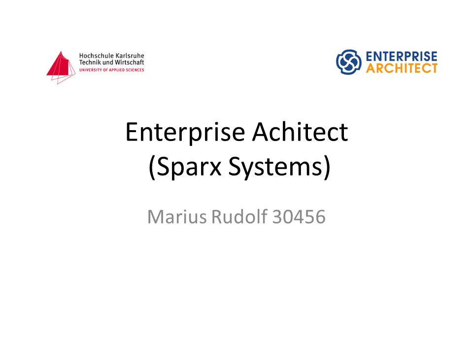 Enterprise Achitect (Sparx Systems) Marius Rudolf 30456