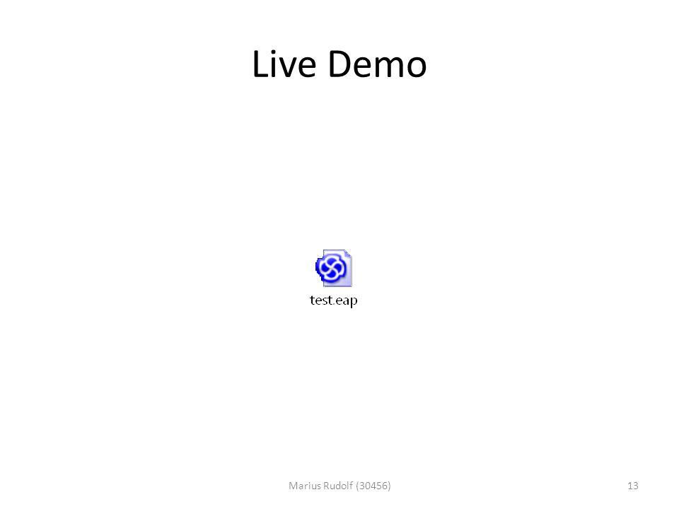 Live Demo 13Marius Rudolf (30456)
