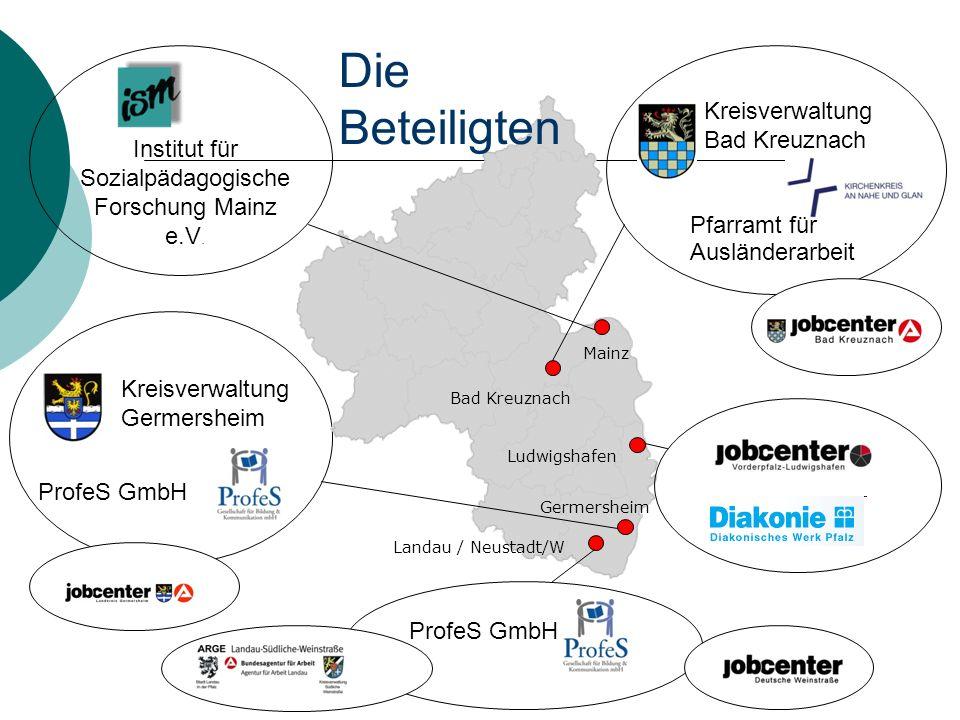 Kreisverwaltung Germersheim ProfeS GmbH Kreisverwaltung Bad Kreuznach Pfarramt für Ausländerarbeit Institut für Sozialpädagogische Forschung Mainz e.V