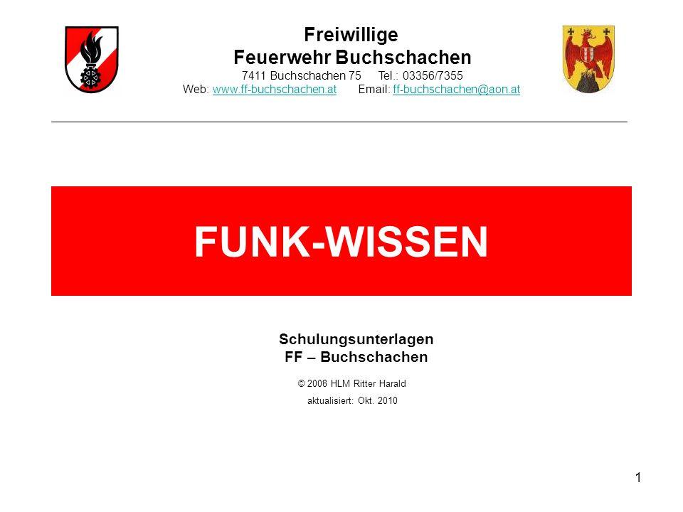 1 Freiwillige Feuerwehr Buchschachen 7411 Buchschachen 75 Tel.: 03356/7355 Web: www.ff-buchschachen.at Email: ff-buchschachen@aon.atwww.ff-buchschache