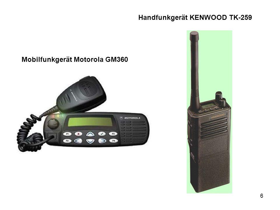 6 Handfunkgerät KENWOOD TK-259 Mobilfunkgerät Motorola GM360