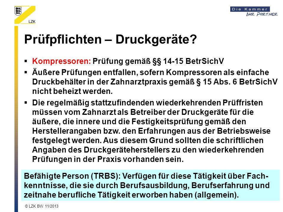 Prüfpflichten – Druckgeräte.