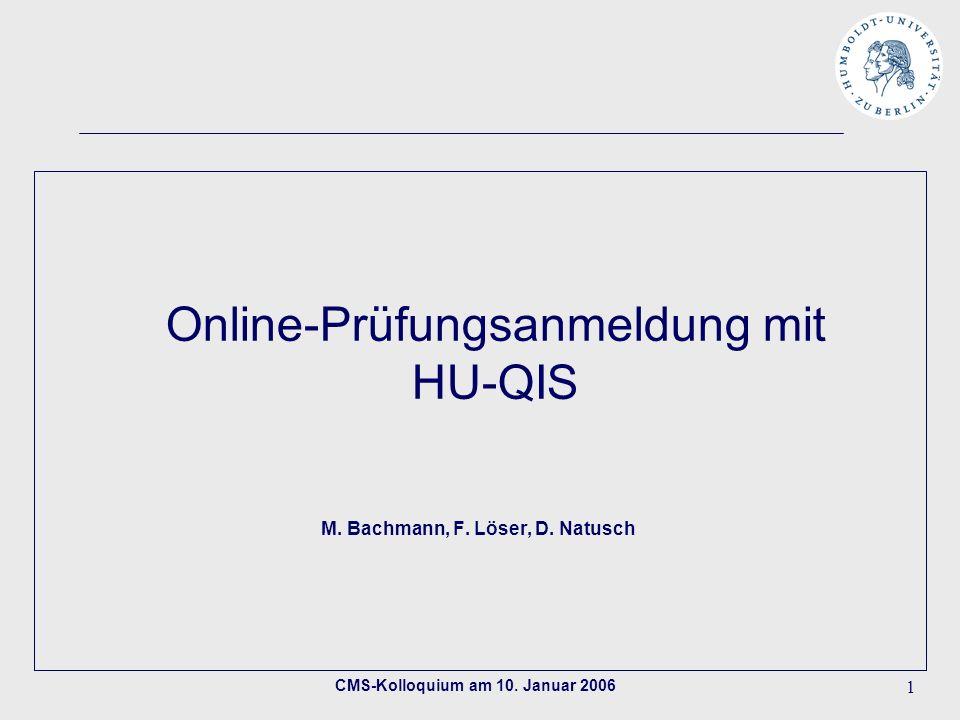 CMS-Kolloquium am 10.Januar 2006 2 Themenübersicht 1.Projektstand/Projekthistorie (D.