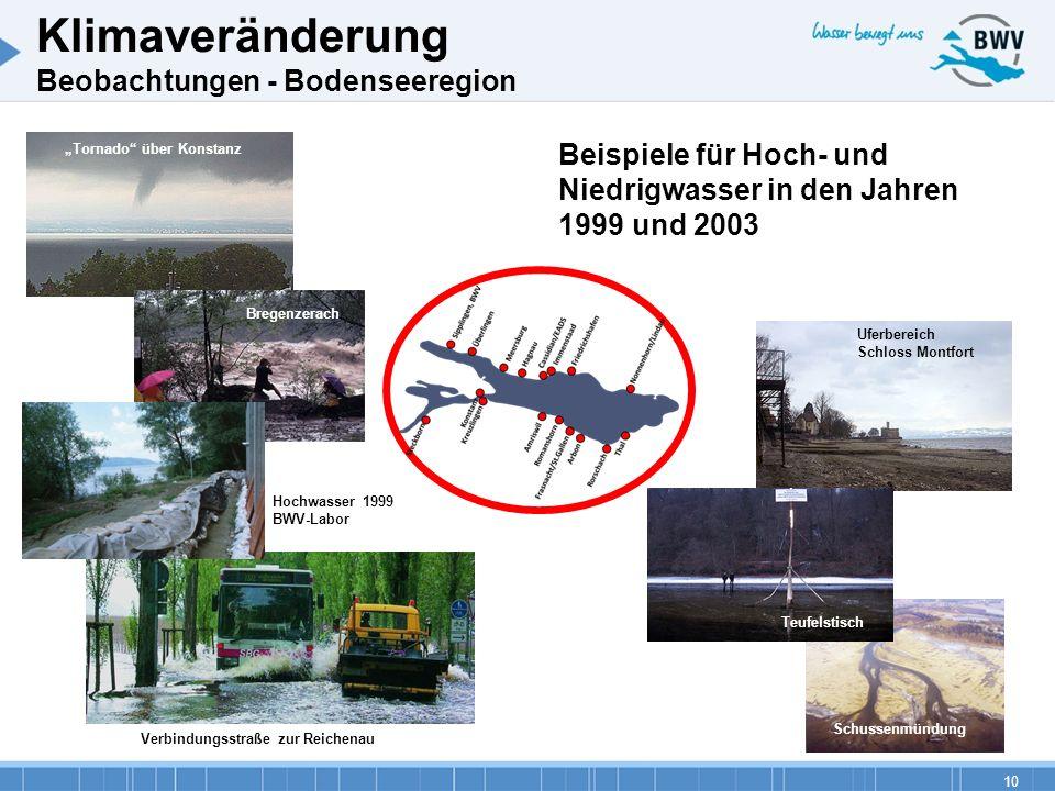 10 Schussenmündung Uferbereich Schloss Montfort Teufelstisch Verbindungsstraße zur Reichenau Tornado über Konstanz Bregenzerach Hochwasser 1999 BWV-La