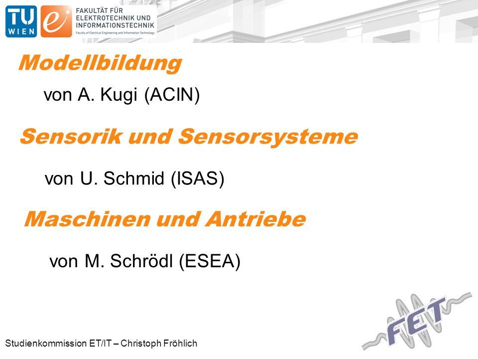 Studienkommission ET/IT – Christoph Fröhlich Modellbildung von A.