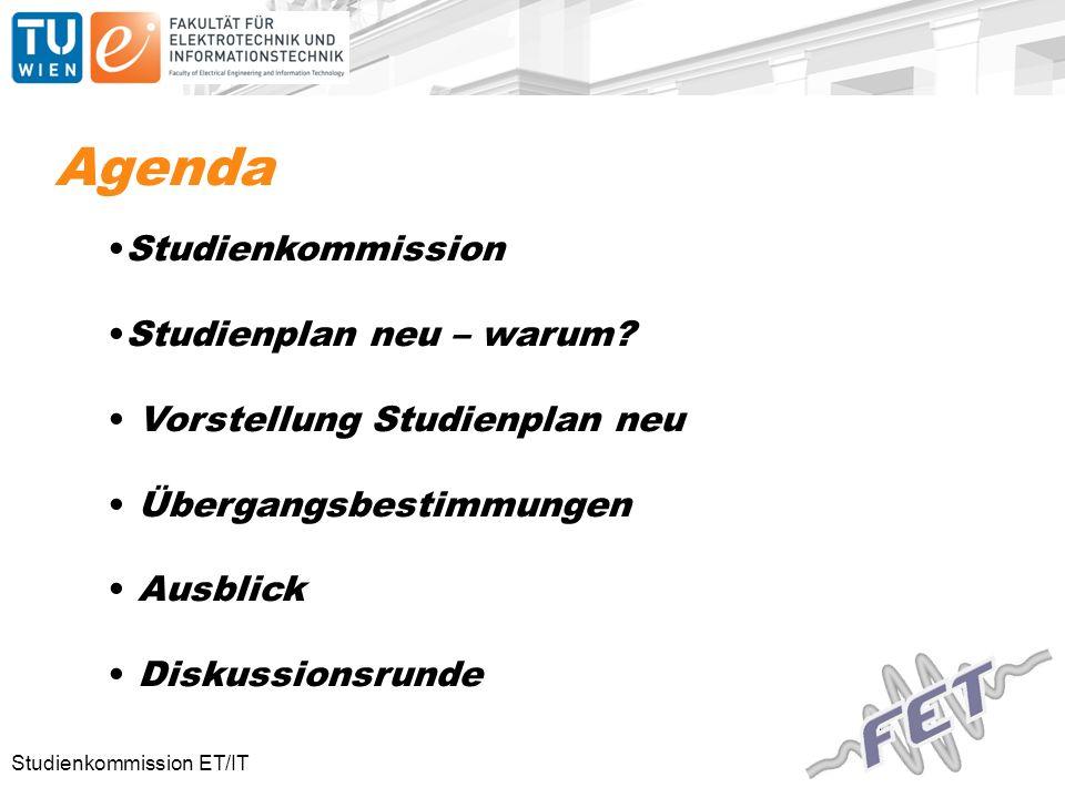 Agenda Studienkommission Studienplan neu – warum.