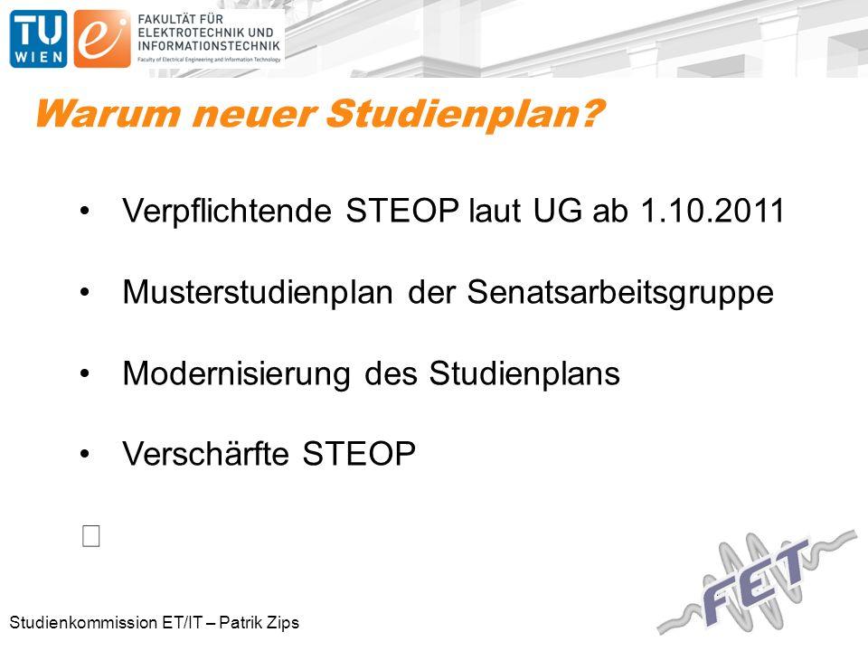 Studienkommission ET/IT – Patrik Zips Warum neuer Studienplan.