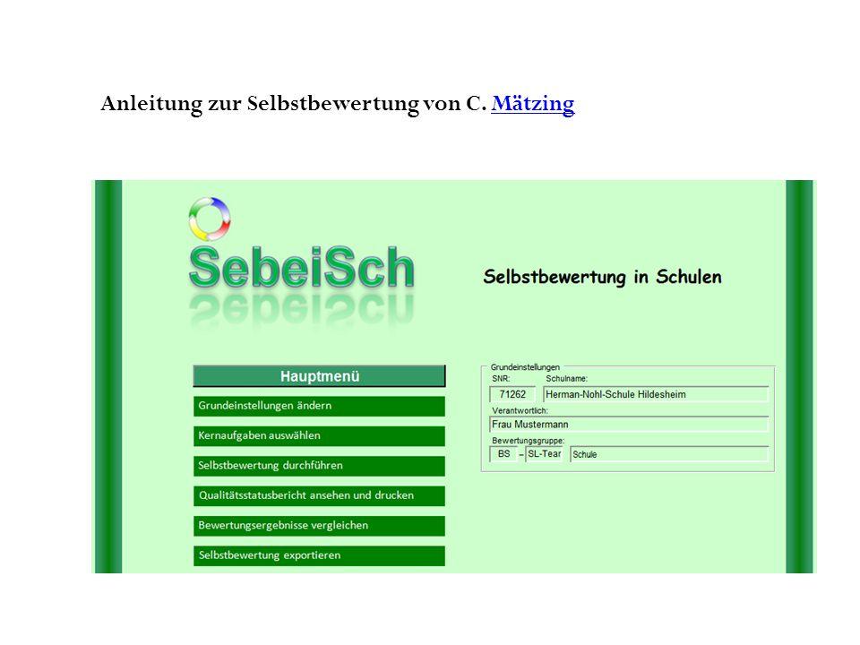 Anleitung zur Selbstbewertung von C. MätzingMätzing