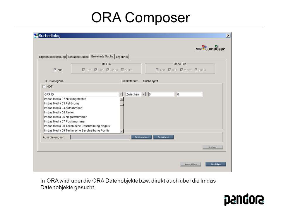 In ORA wird über die ORA Datenobjekte bzw.