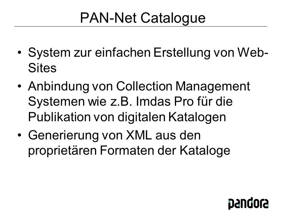 System zur einfachen Erstellung von Web- Sites Anbindung von Collection Management Systemen wie z.B.
