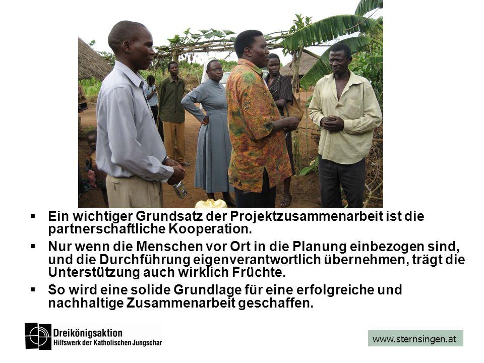 www.sternsingen.at Ein wichtiger Grundsatz der Projektzusammenarbeit ist die partnerschaftliche Kooperation. Nur wenn die Menschen vor Ort in die Plan