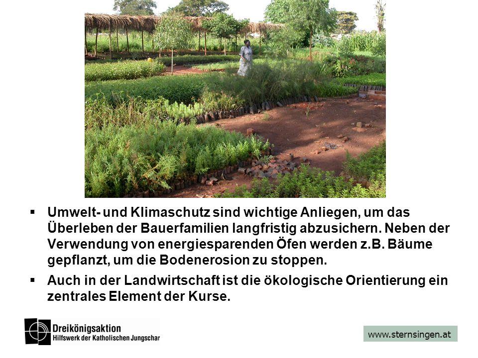 www.sternsingen.at Umwelt- und Klimaschutz sind wichtige Anliegen, um das Überleben der Bauerfamilien langfristig abzusichern. Neben der Verwendung vo