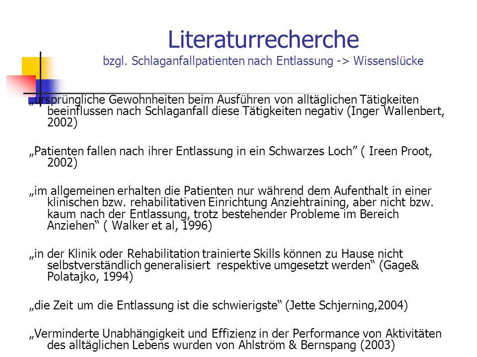 Literaturrecherche bzgl.