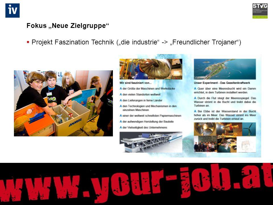 Fokus Neue Zielgruppe Projekt Faszination Technik (die industrie -> Freundlicher Trojaner)