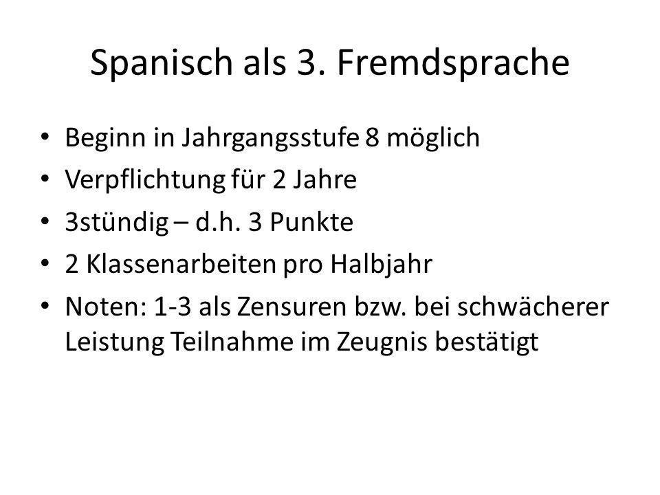 Vorrausetzungen: Leistungen in 1.und 2.