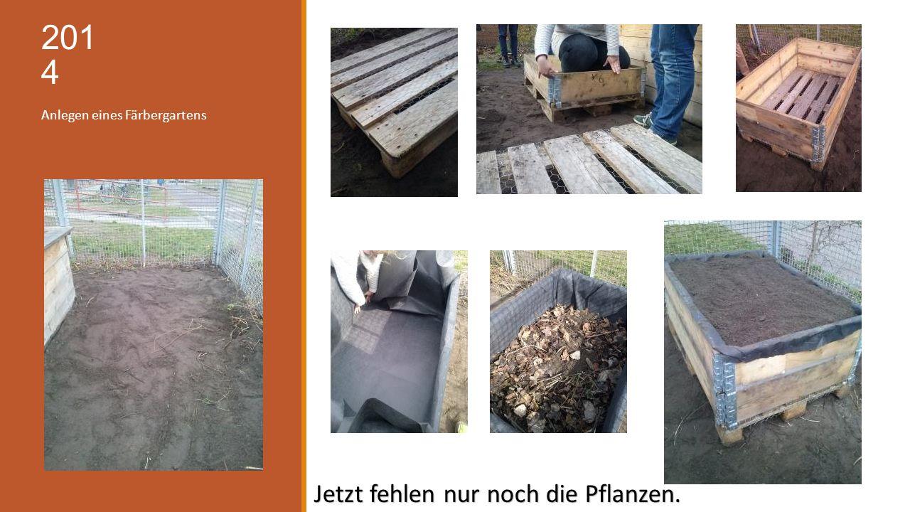 201 4 Anlegen eines Färbergartens Jetzt fehlen nur noch die Pflanzen.