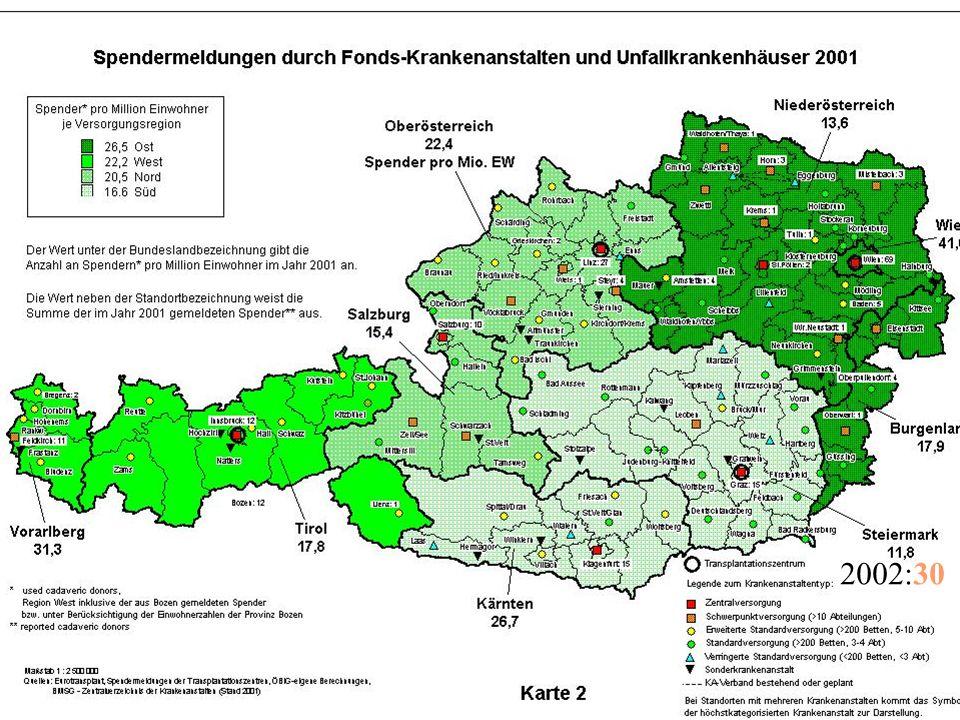 Ausserhalb des LKH Graz Koordinatoren kommen zu Ihnen Explantationstermin 4-8 Stunden nach abgeschlossener Hirntoddiagnostik – OP-Saal muss zur Verfügung stehen.