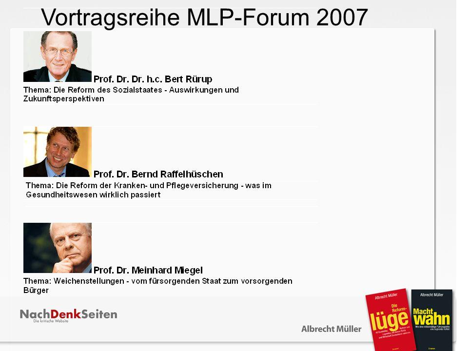 Vortragsreihe MLP-Forum 2007