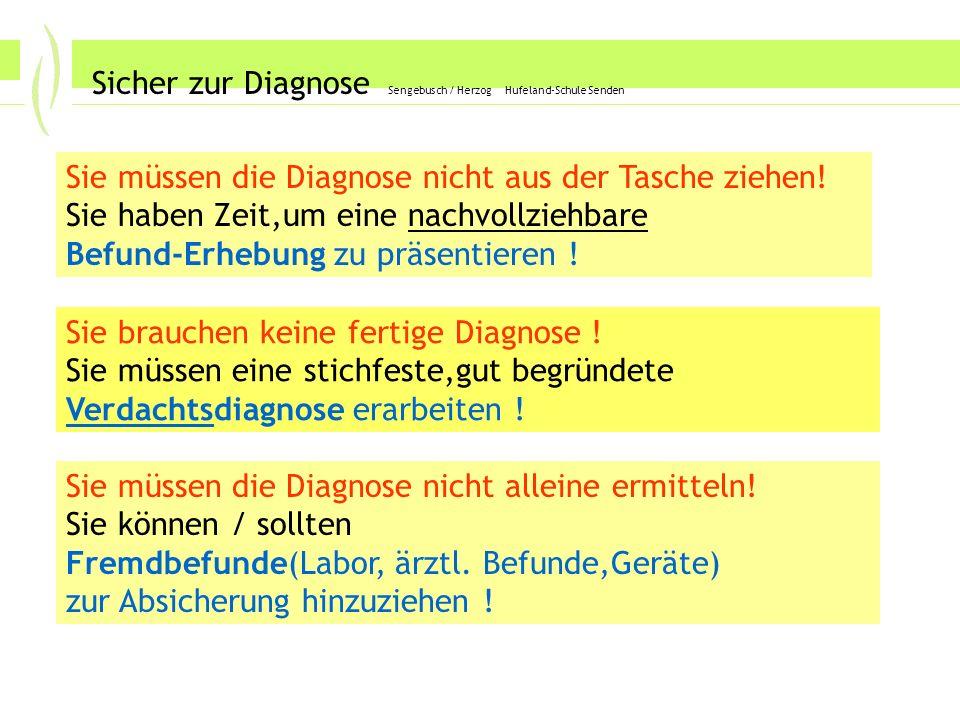Labor4 Sicher zur Diagnose Sengebusch / Herzog Hufeland-Schule Senden Labor: Parameter richtig zuordnen .