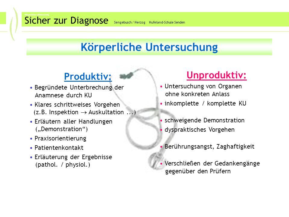 Laborbefunde Sicher zur Diagnose Sengebusch / Herzog Hufeland-Schule Senden Labor(befunde) Produktiv: ToDo-List parallel zur Anamnese führen gezielte Werte begründet ermitteln (lassen) ggf.