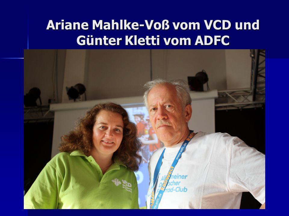 Ariane Mahlke-Voß vom VCD und Günter Kletti vom ADFC
