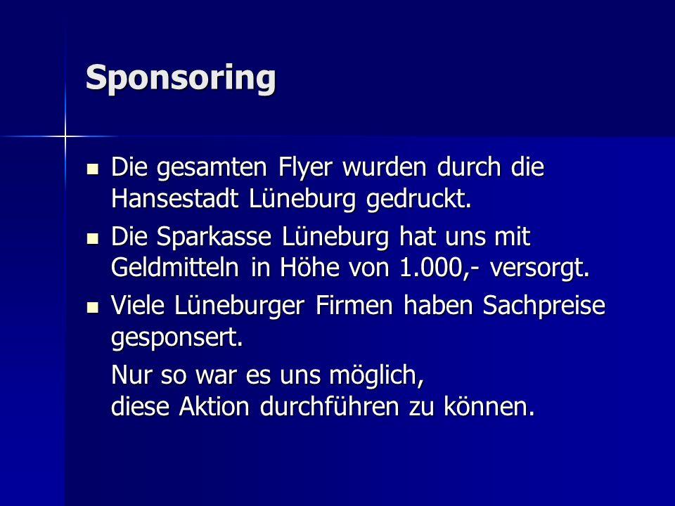 Sponsoring Die gesamten Flyer wurden durch die Hansestadt Lüneburg gedruckt.