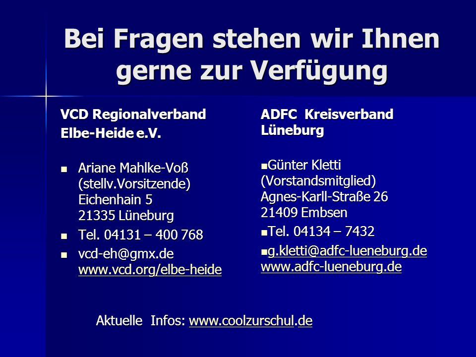 Bei Fragen stehen wir Ihnen gerne zur Verfügung VCD Regionalverband Elbe-Heide e.V.