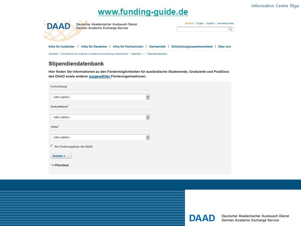 www.funding-guide.de Information Centre Riga