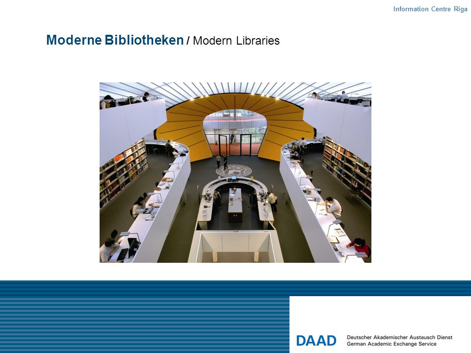 Moderne Bibliotheken / Modern Libraries Information Centre Riga