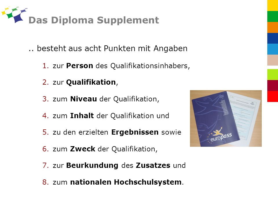 Das Diploma Supplement..