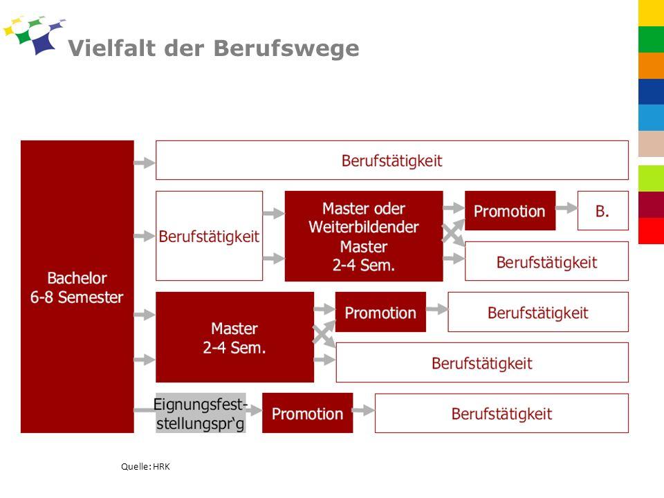 Vielfalt der Berufswege Quelle: HRK