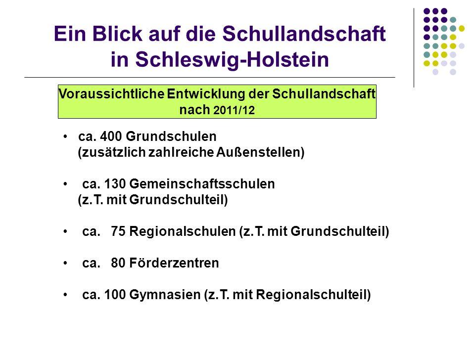 Ein Blick auf die Schullandschaft in Schleswig-Holstein ca.