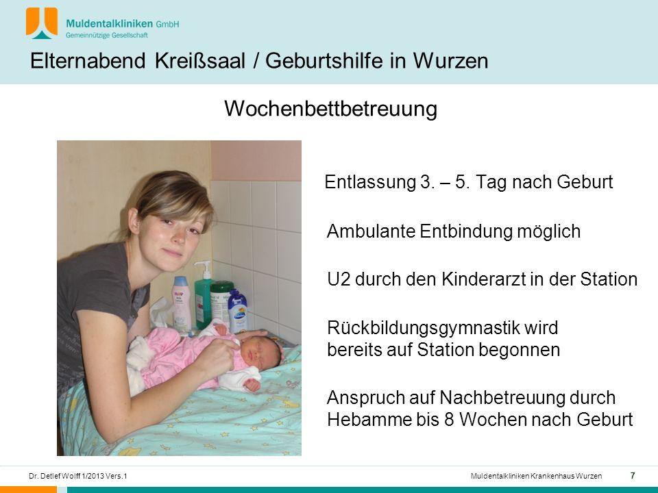 777 Dr.Detlef Wolff 1/2013 Vers.1Muldentalkliniken Krankenhaus Wurzen Entlassung 3.