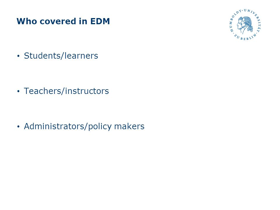 What can EDM help them.Students/learners Hint generation (Barnes, T.