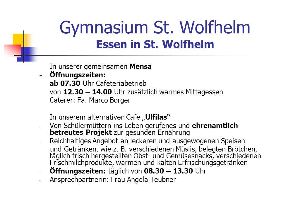 Gymnasium St.Wolfhelm Essen in St.