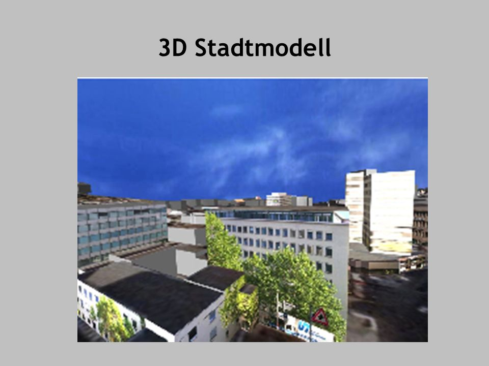 3D Stadtmodell