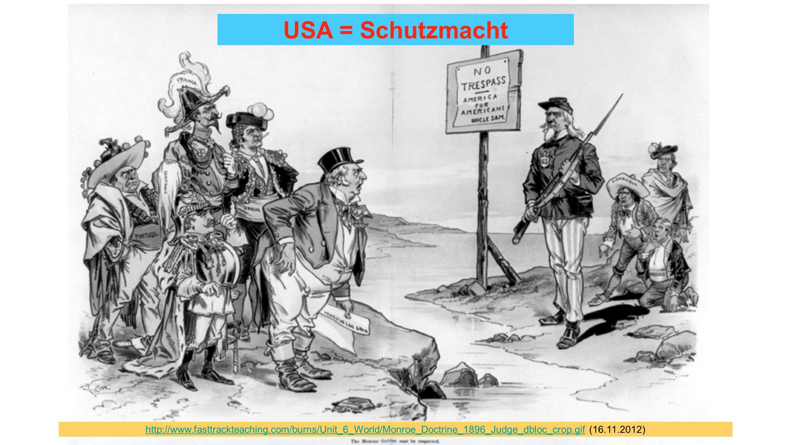 Ein kontinentaler Hegemonialanspruch vereinnahmend,We Americans vormundschaftlich isolationistisch